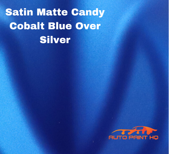 Satin Flat Candy Cobalt Blue Over Silver Basecoat Tri-Coat Gallon Auto Paint Kit