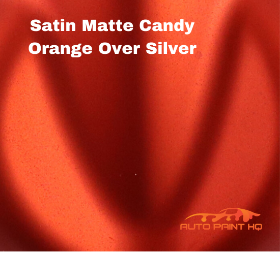 Satin Flat Candy Orange Over Silver Basecoat Tri-coat Gallon Car Auto Paint Kit