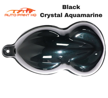 Black Crystal Aquamarine Pearl Acrylic Urethane Single Stage Gallon Paint Kit