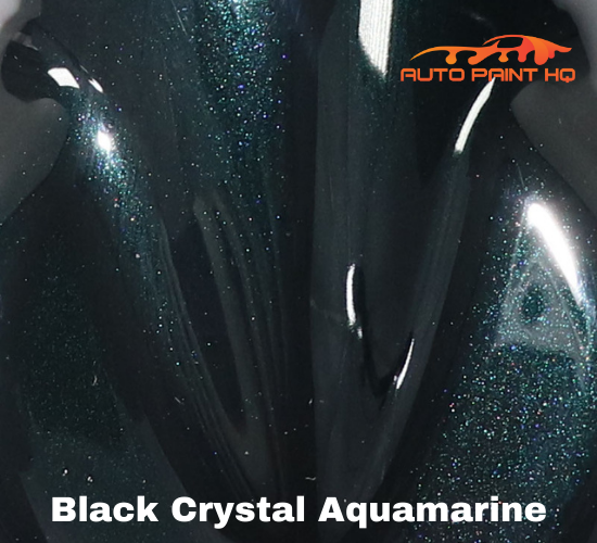 Black Crystal Aquamarine Basecoat + Reducer Quart (Basecoat Only) Auto Paint Kit