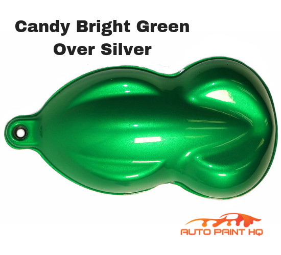 Candy Bright Green Quart with Reducer (Candy Midcoat Only) Auto Motorcycle Kit