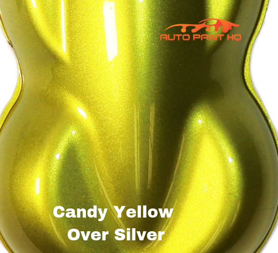 Candy Yellow Quart with Reducer (Candy Midcoat Only) Car Auto Motorcycle Kit