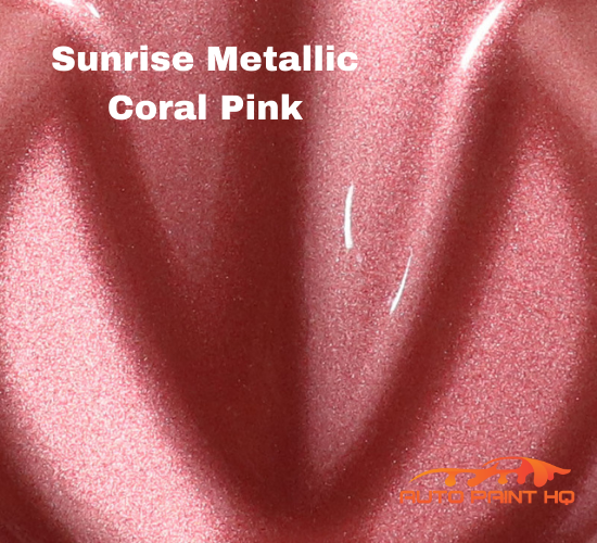 Sunrise Super Coarse Metallic Coral Pink Basecoat Quart Kit