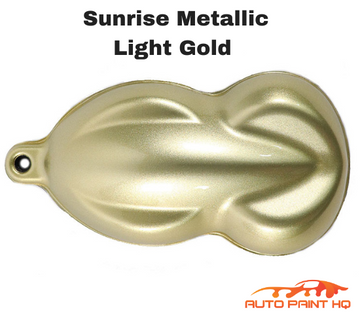 Sunrise Super Coarse Metallic Light Gold Basecoat Quart Kit