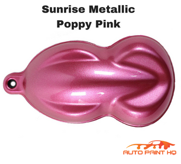 Sunrise Super Coarse Metallic Poppy Pink Basecoat Quart Motorcycle Kit