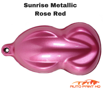 Sunrise Super Coarse Metallic Rose Red Basecoat Quart Motorcycle Kit