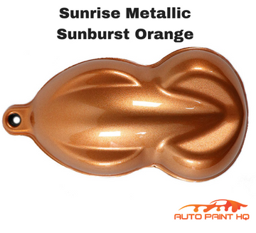 Sunrise Super Coarse Metallic Sunburst Orange Basecoat Complete Gallon Car Kit