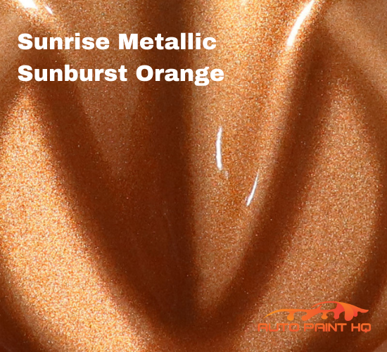 Sunrise Super Coarse Metallic Sunburst Orange Basecoat Quart Motorcycle Kit