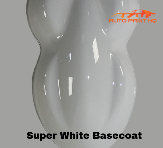 Super White Basecoat with Reducer Gallon (Basecoat Only) Car Auto Paint Kit