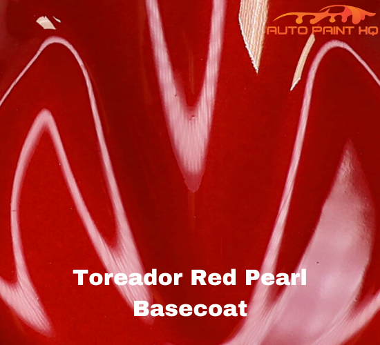 Red Pearl Basecoat + Reducer Quart (Basecoat Only) Motorcycle Auto Paint Kit