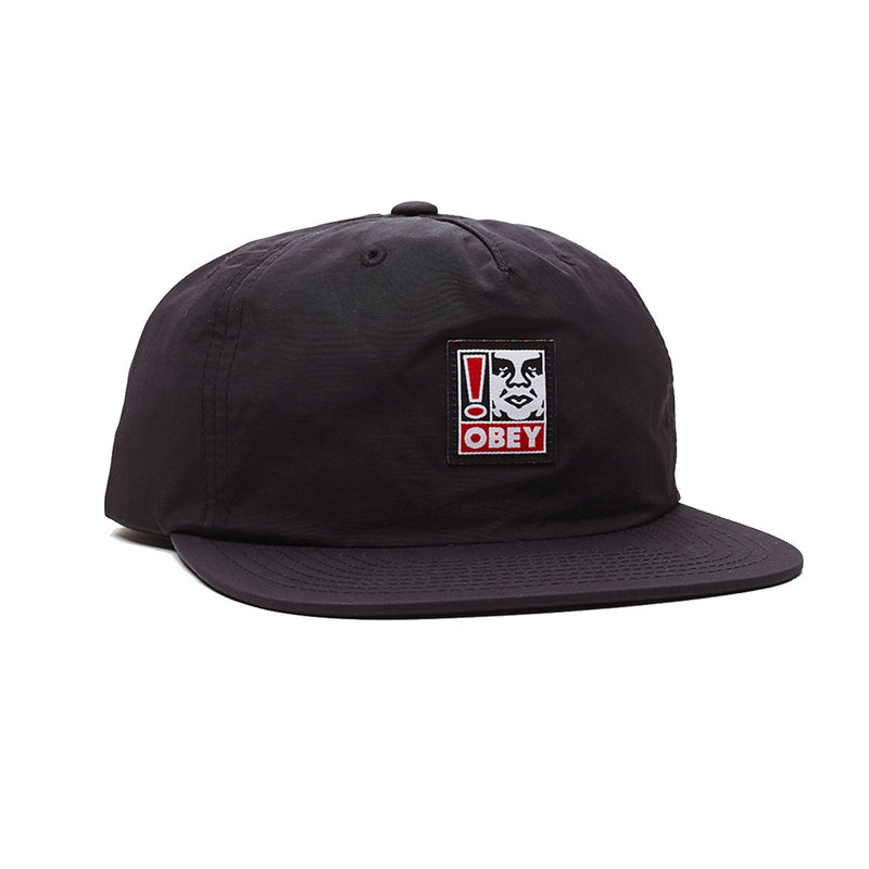 Exclamation Strapback Black | OBEY Clothing