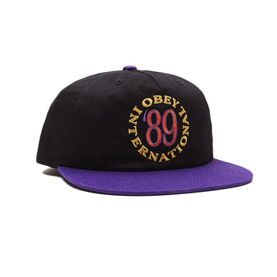 Classic 89 Strapback Black Multi | OBEY Clothing