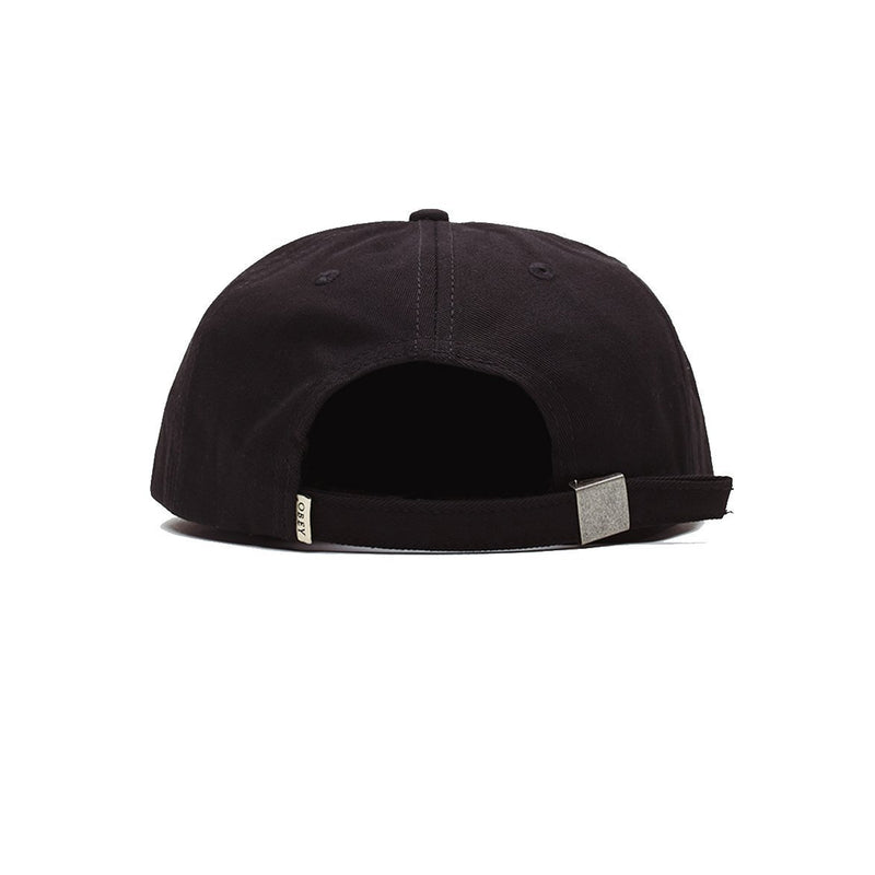 Ideals Organic 6 Panel Strapback Black | OBEY Clothing