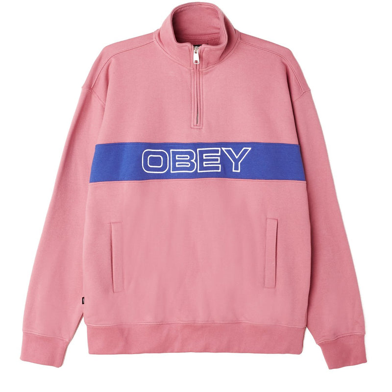 Court Zip Mock Cassis Multi | OBEY Clothing