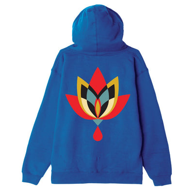 Geometric Flower 2 Substainable Pullover Hood Royal Blue | OBEY Clothing