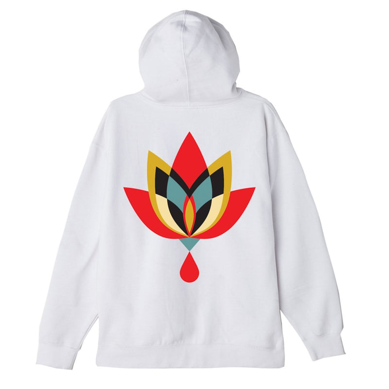 Geometric Flower 2 Substainable Pullover Hood White | OBEY Clothing