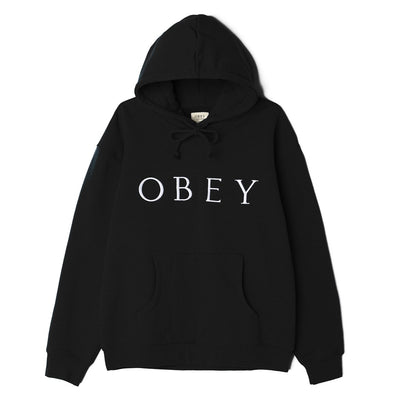 Ideals Sustainable Logo Pullover Hood Black | OBEY Clothing