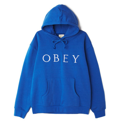 Ideals Sustainable Logo Pullover Hood Royal Blue | OBEY Clothing