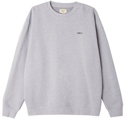 Ideals Sustainable Crewneck Ash Grey | OBEY Clothing
