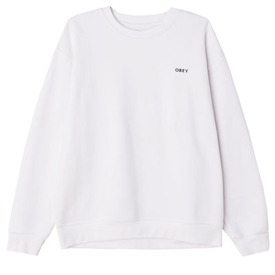 Ideals Sustainable Crewneck White | OBEY Clothing