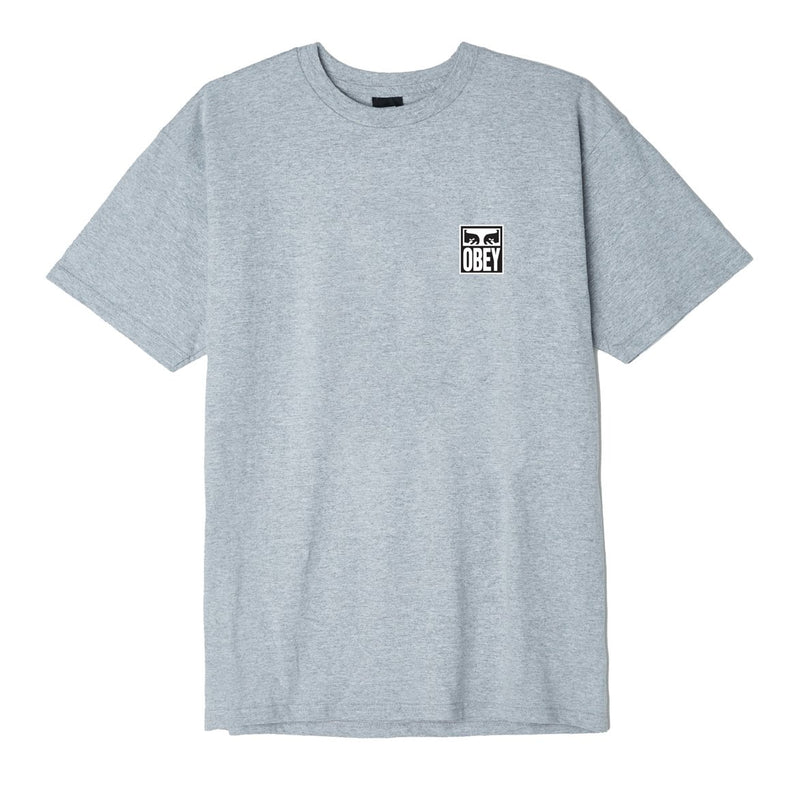 OBEY Eyes Icon 2 Basic Tee Heather Grey | OBEY Clothing