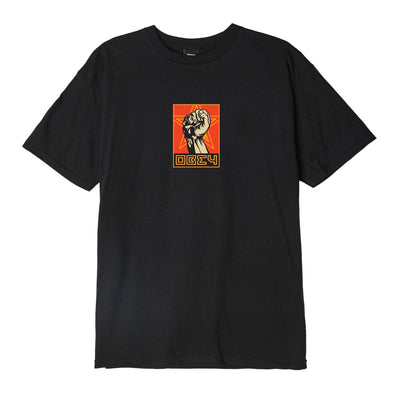 OBEY Fist 30 Years Basic Tee Black | OBEY Clothing