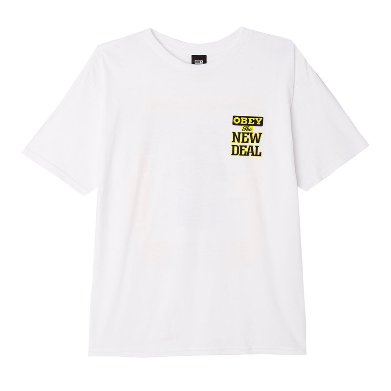 OBEY x NEW DEAL Basic Tee White | OBEY Clothing