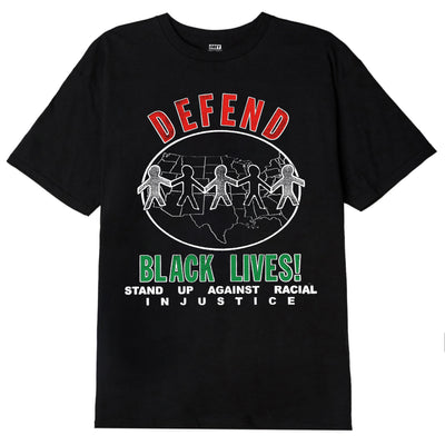 Defend Black Lives Classic T-Shirt Black | OBEY Clothing