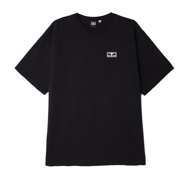 OBEY Eyes 3 Heavyweight Classic Box Tee Black | OBEY Clothing