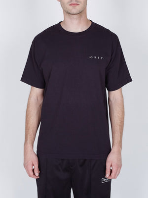 Novel OBEY 3 Heavyweight Box Tee Off Black | OBEY Clothing