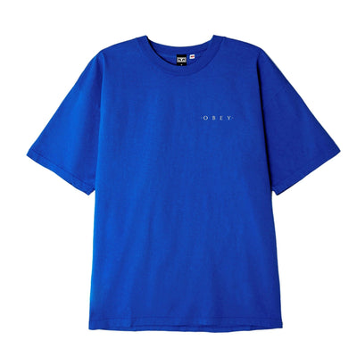 Novel OBEY 3 Heavyweight Box Tee Royal Blue | OBEY Clothing