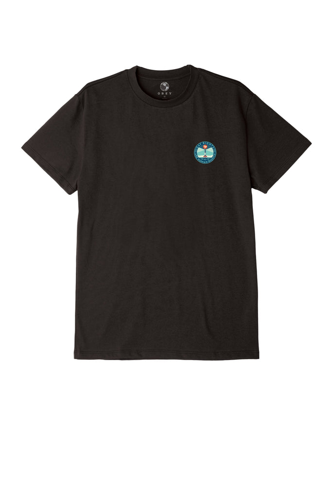 Fire Island Sustainable T-Shirt Black | OBEY Clothing