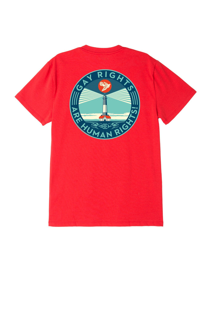 Fire Island Sustainable T-Shirt Red | OBEY Clothing