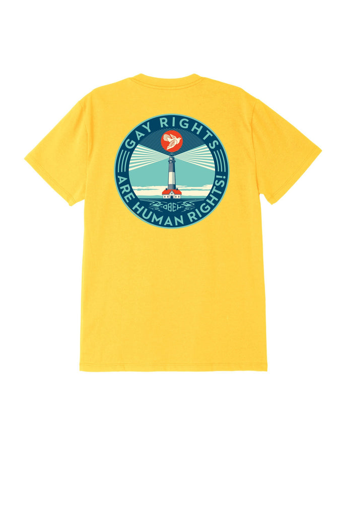 Fire Island Sustainable T-Shirt Yellow | OBEY Clothing