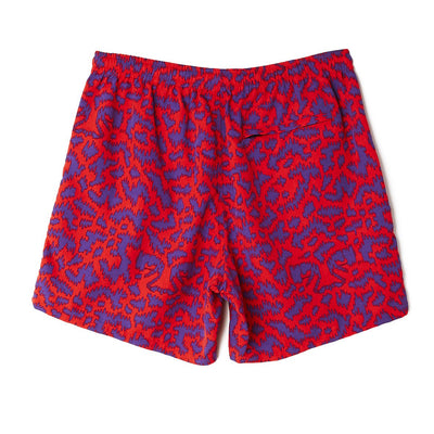Easy Relaxed Fuzz Short Red Multi | OBEY Clothing
