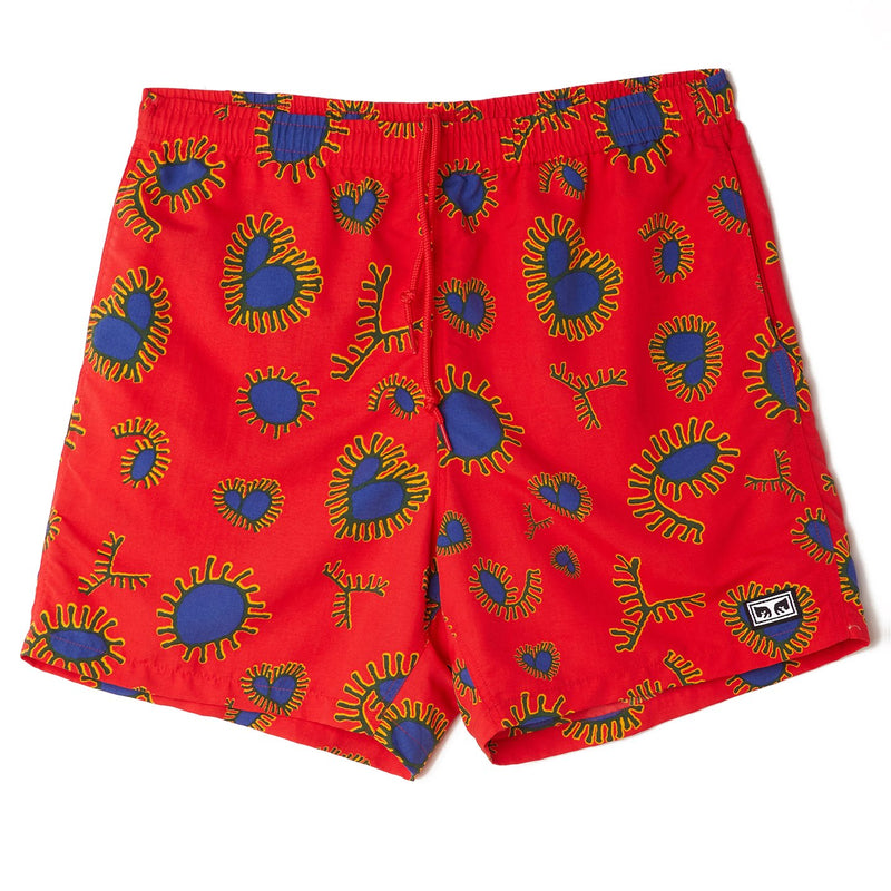 Easy Relaxed Amoeba Short Red Multi | OBEY Clothing