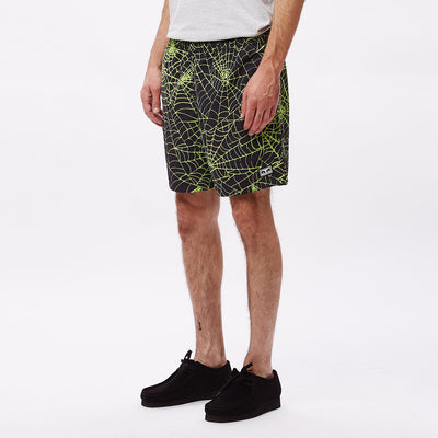 Easy Relaxed Web Short Lime Multi | OBEY Clothing