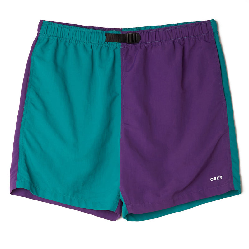 Easy Relaxed Recess Short Teal Multi | OBEY Clothing
