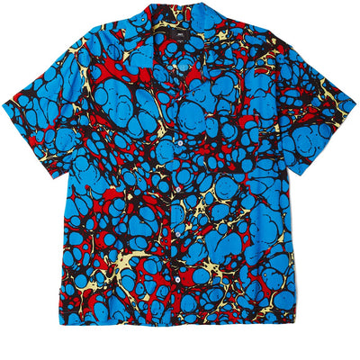 Botched SS Shirt Blue Multi | OBEY Clothing