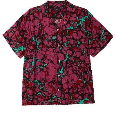 Botched SS Shirt Dark Coral Multi | OBEY Clothing