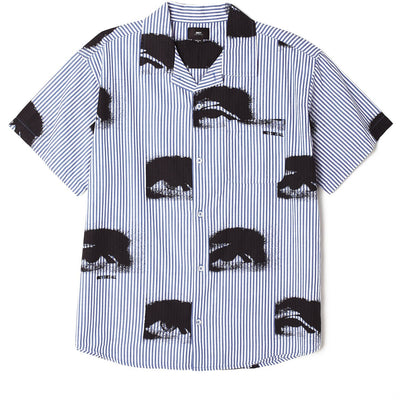 Sees All SS Shirt Ultra Marine Multi | OBEY Clothing