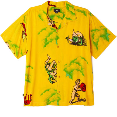 Devils SS Shirt Mellow Yellow Multi | OBEY Clothing