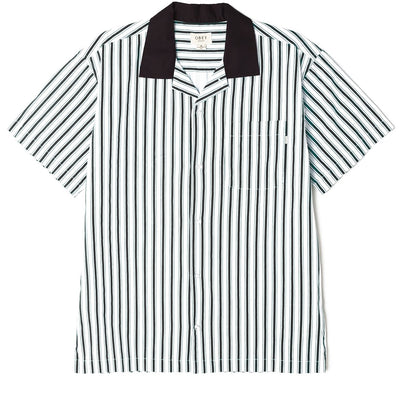 Ideals Organic Striped SS Shirt Black Multi | OBEY Clothing