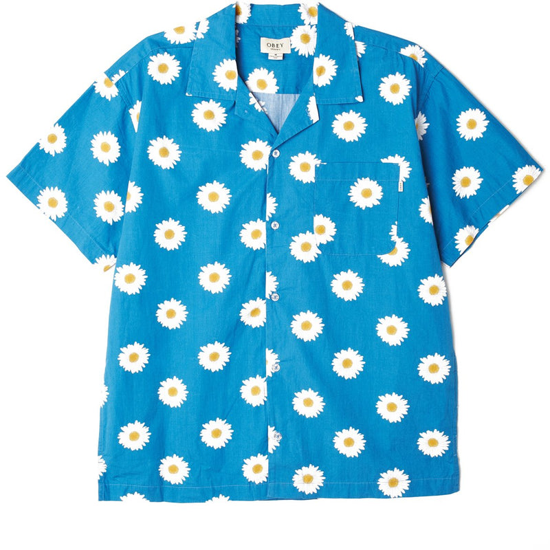 Ideals Organic Daisy SS Shirt Blue Multi | OBEY Clothing
