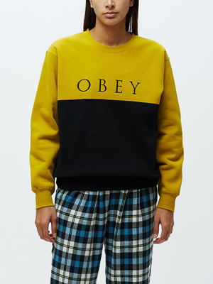 Sonora Crewneck Lieutenant Black | OBEY Clothing