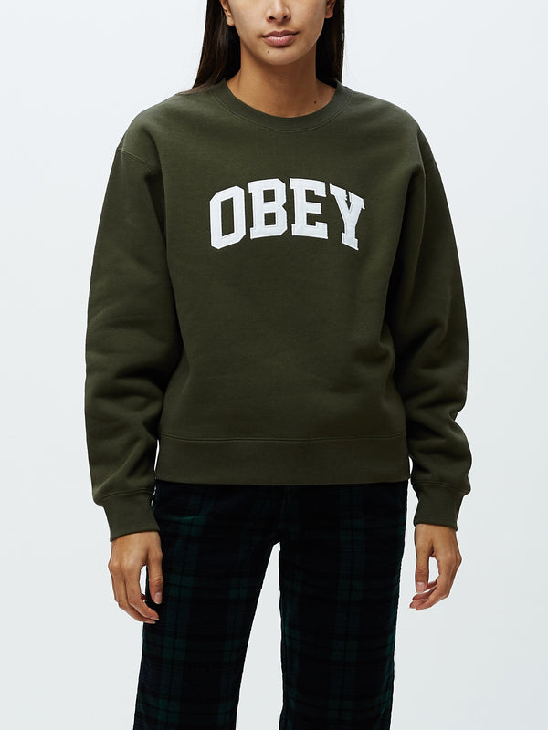 Institution Crewneck forest | OBEY Clothing