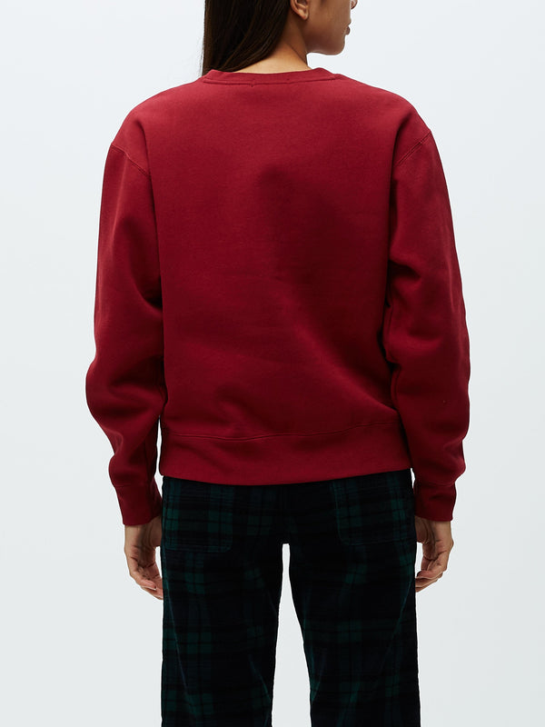 Institution Crewneck ox blood | OBEY Clothing