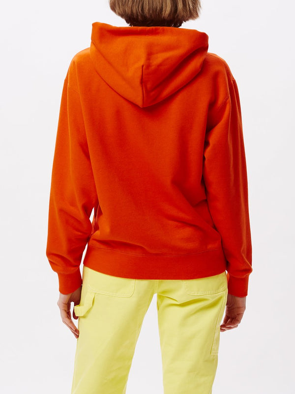 Jawbreaker Hoodie Flame Orange | OBEY Clothing