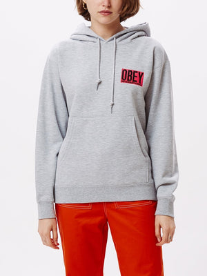 Fizz Hoodie Ash Heather Grey | OBEY Clothing