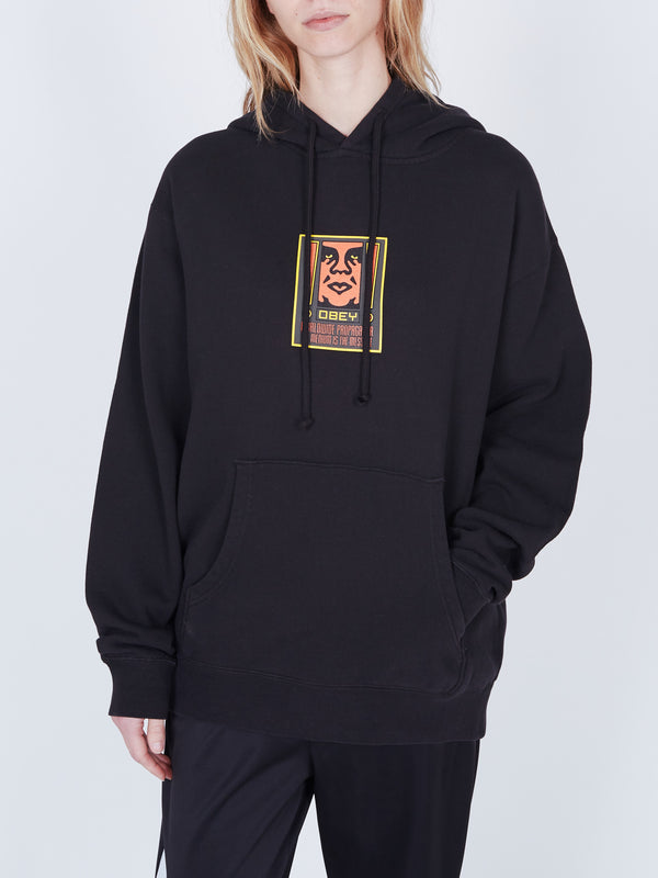 Exclamation Box Hoodie Dusty Black | OBEY Clothing